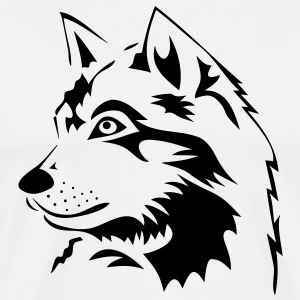 wolf wolves pack hunter predator howling wild wilderness dog husky malamut T-Shirts - Men's Premium T-Shirt