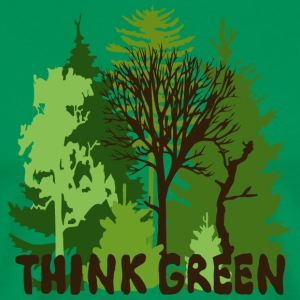 EARTHDAYCONTEST Earth Day Think Green forest trees wilderness mother nature T-Shirts - Men's Premium T-Shirt