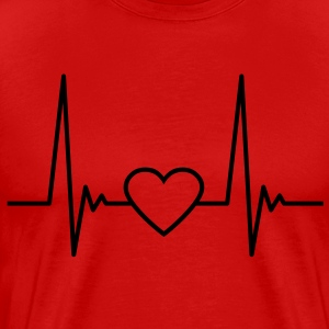 heart_pulse_1c T-Shirts - Men's Premium T-Shirt