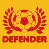 Soccer BALL DEFENDER with leaves T-Shirts - Men's Premium T-Shirt