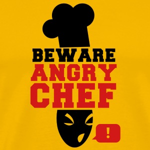 BEWARE angry CHEF! with a speech bubble ! T-Shirts - Men's Premium T-Shirt