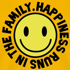 HAPPINESS runs in the FAMILY smiley T-Shirts - Men's Premium T-Shirt