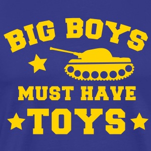 BIG BOYS MUST HAVE TOYS stars and a tank T-Shirts - Men's Premium T-Shirt