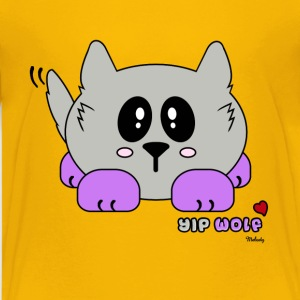 Yip Wolf Pudgie Pet - Designs by Melody Kids' Shirts - Kids' Premium T-Shirt