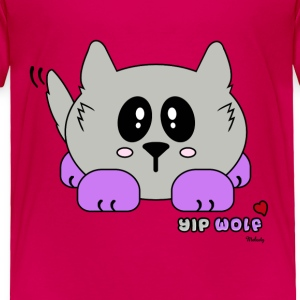 Yip Wolf Pudgie Pet - Designs by Melody Toddler Shirts - Toddler Premium T-Shirt