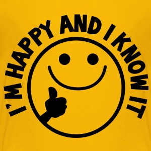 I'm HAPPY and I know it with thumbs up smiley Kids' Shirts - Kids' Premium T-Shirt