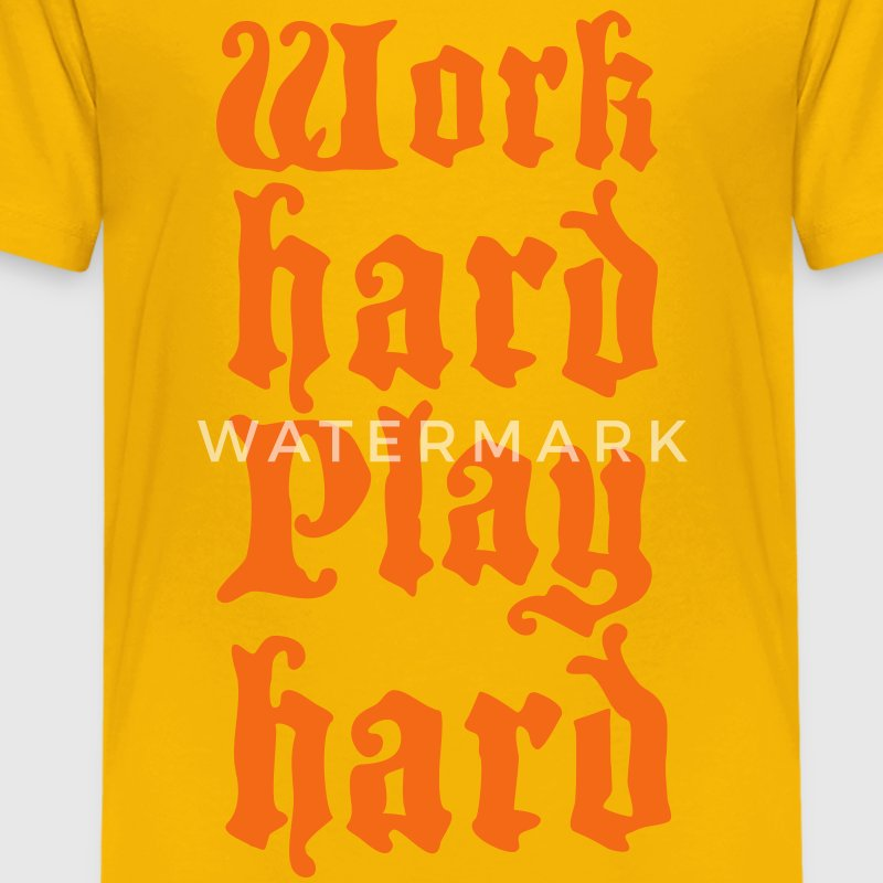 work hard play hard Kids' Shirts - Kids' Premium T-Shirt