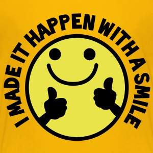 I MADE IT HAPPEN with a SMILE smiley with thumbs up! Kids' Shirts - Kids' Premium T-Shirt