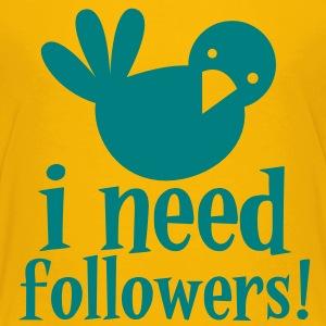 i need followers! Blue tweeter bird Kids' Shirts - Kids' Premium T-Shirt