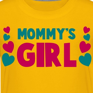mommy's mom mother girl with cute little love hearts Kids' Shirts - Kids' Premium T-Shirt