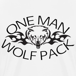 One Man Wolf Pack T-Shirt - Men's Premium T-Shirt