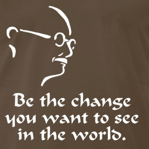 Gandhi – Change - Men's Premium T-Shirt