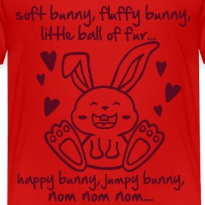 soft bunny, fluffy bunny, little ball of fur... Toddler Shirts - Toddler Premium T-Shirt