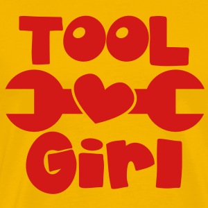 TOOL girl with spanner and a love heart T-Shirts - Men's Premium T-Shirt