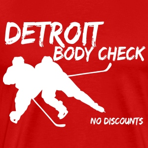 Detroit Body Check T-Shirts - Men's Premium T-Shirt
