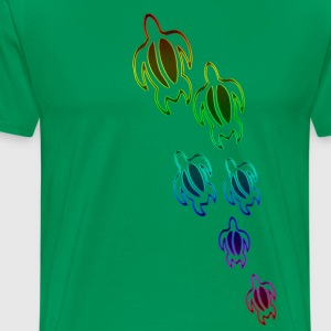 Rainbow Turtles 4x - Men's Premium T-Shirt