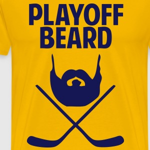 Hockey Playoff Beard T-Shirts - Men's Premium T-Shirt