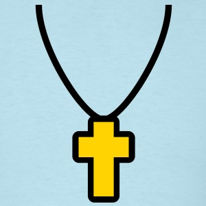 necklace_cross_2c T-Shirts - Men's T-Shirt