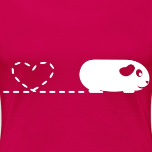 'Pooping Heart' Guinea Pig Ladies Plus-Size T-Shir - Women's Premium T-Shirt