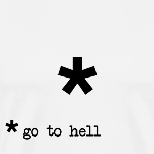 Go To Hell Footnote T-Shirts - Men's Premium T-Shirt