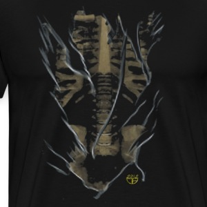 Laughing Death's Head Rib Cage - Men's Premium T-Shirt