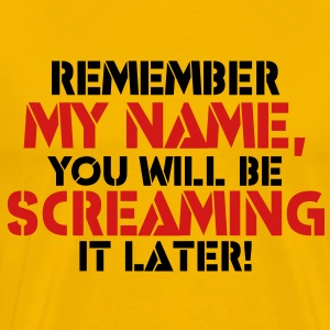 Remember My Name, You'll Be Screaming it Later - Men's Premium T-Shirt