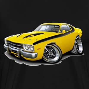 1973-74 Roadrunner Yellow-Black Car T-Shirts - Men's Premium T-Shirt