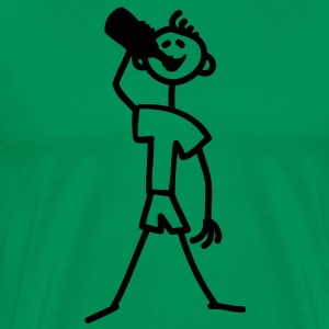 drinking_stick_figure_1c T-Shirts - Men's Premium T-Shirt