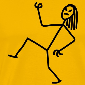 air_guitar_stick_figure_1c T-Shirts - Men's Premium T-Shirt