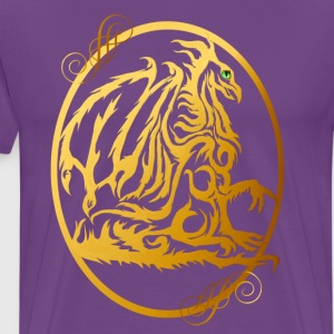 Gold Dragon Oval - Men's Premium T-Shirt