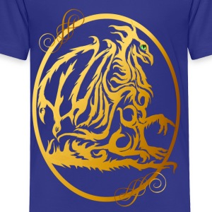Gold Dragon Oval - Toddler Premium T-Shirt