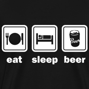 Eat Sleep Beer - Men's Premium T-Shirt