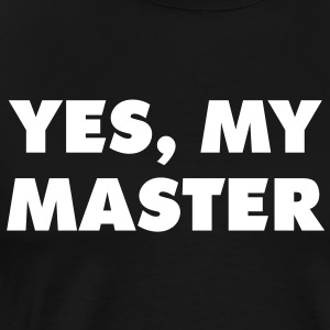yes_my_master_quotation_1c T-Shirts - Men's Premium T-Shirt
