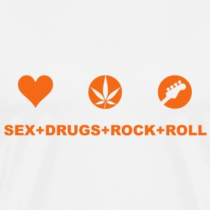 sex, drugs, rock n roll T-Shirts - Men's Premium T-Shirt
