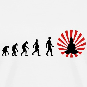 Darwin, evolution, revolution, enlightened, Buddha, buddhism, T-Shirts - Men's Premium T-Shirt