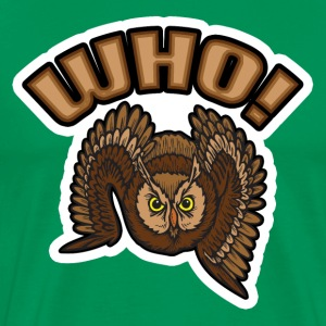 Who Owl T-Shirt - Men's Premium T-Shirt