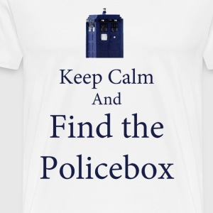 keep Calm and Find the Policebox T-Shirts - Men's Premium T-Shirt