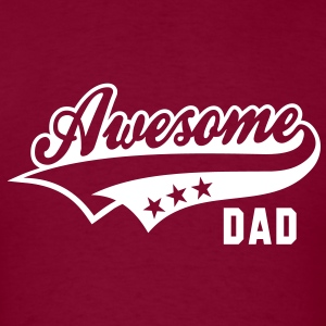 Awesome DAD T-Shirt WB - Men's T-Shirt