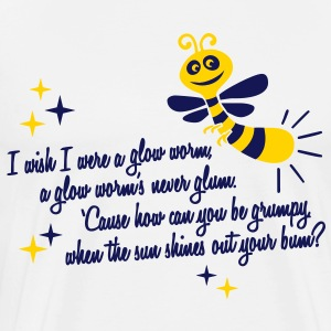 I wish I were a glow worm T-Shirts - Men's Premium T-Shirt