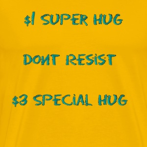 Dollar Super Hug - Men's Premium T-Shirt