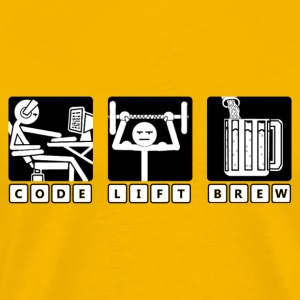 Code - Lift - Brew - Men's Premium T-Shirt