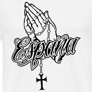 Praying Hands Espana Basic - Men's Premium T-Shirt
