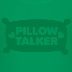 PILLOW TALKER on a pillow with love hearts Kids' Shirts - Kids' Premium T-Shirt