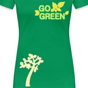 Go green  Trees nature Women's Plus Size Basic T-Shirt - Women's Premium T-Shirt