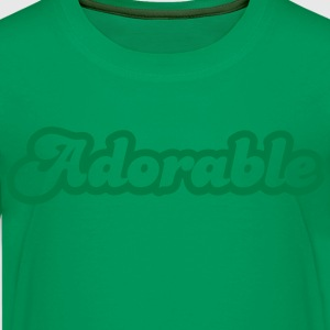 adorable! in cute font Kids' Shirts - Kids' Premium T-Shirt