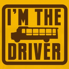 I'm the school bus driver in a rounded square T-Shirts