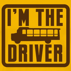 I'm the school bus driver in a rounded square T-Shirts - Men's Premium T-Shirt