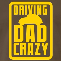 CAR driving DAD CRAZY! in blue for kids T-Shirts