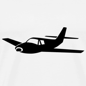 Airplane black silhouette  - Men's Premium T-Shirt