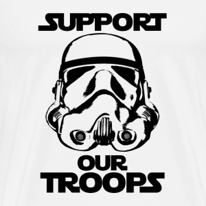 stormtrooper support our troops tshirt - Men's Premium T-Shirt